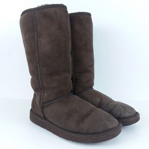 Ugg brown Classic Tall 5815 size W7